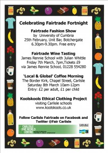Fairtrade Fortnight 2014 flyer