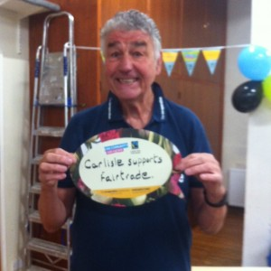 Geoff Toogood promoting the Co-operative and Fairtrade